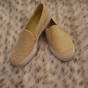 Yellow Slip on Keds